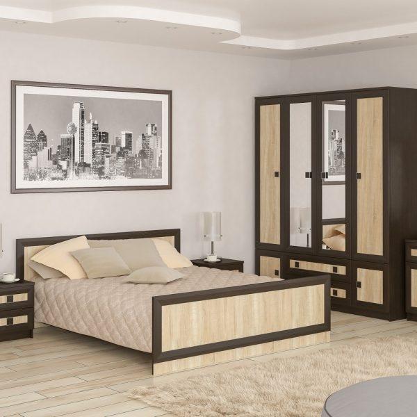 Спальня «Даллас» колір: дуб-самоа